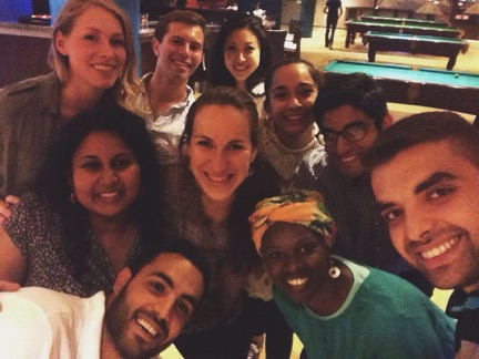 Penn Volunteers and GFP staff go bowling