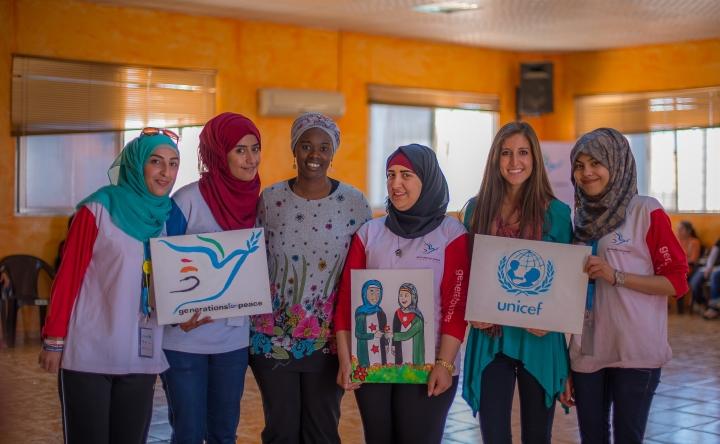 Rosie and GFP volunteers in Mafraq, Jordan