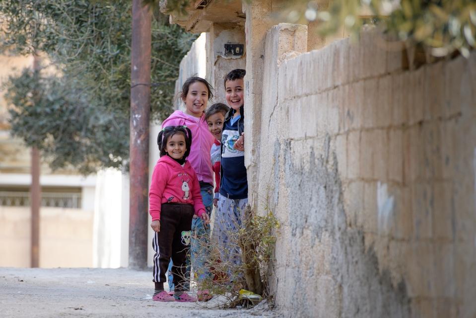 Children in Mafraq, Jordan