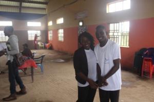 Abubakar and Deborah during session 16